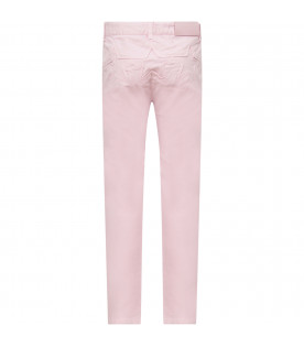 GIVENCHY KIDS Pink girl pants with stars on the back