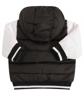 GIVENCHY KIDS Black jacket with white sleeves