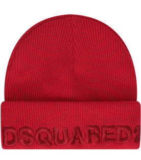 DSQUARED2 Red hat with red logo