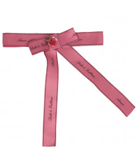 DOLCE & GABBANA KIDS Pink belt with bow