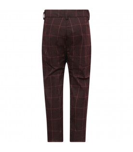 TINYCOTTONS Plum checked pants