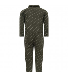 Green girl jampsuit with colorful patch