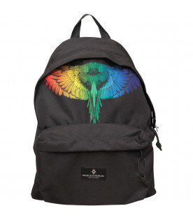 "MARCELO BURLON KIDS Zaino ""Rainbow wing"" nero"