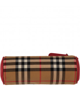 BURBERRY KIDS vintage check pencil-case with rainbow logo