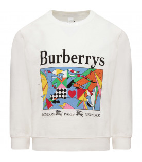 BURBERRY KIDS White boy t-shirt with logo