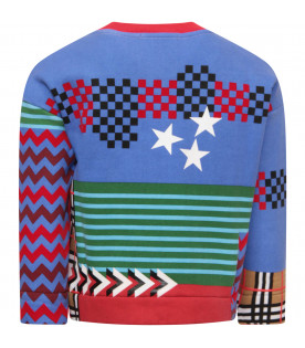 BURBERRY KIDS Multicolor boy sweatshirt