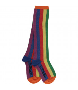 BURBERRY KIDS Rainbow socks
