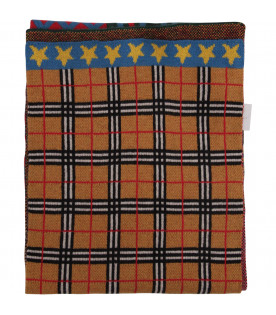BURBERRY KIDS Colorful patchwork scarf