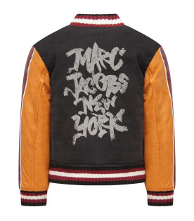 LITTLE MARC JACOBS Colorful boy bomber jacket with white logo