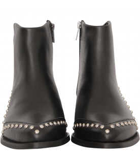 ZADIG & VOLTAIRE KIDS Black boot wwith studs