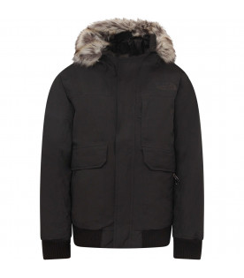 THE NORTH FACE KIDS Black boy parka with black logo