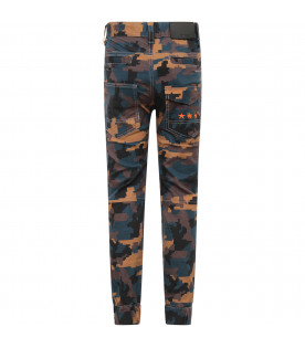 GIVENCHY KIDS Camouflage boy pants