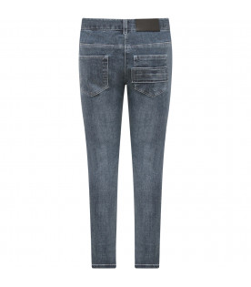 GIVENCHY KIDS Light blue boy jeans with blue stars