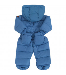 SAVE THE DUCK KIDS Light blue puff overall with belt