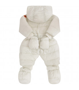 SAVE THE DUCK KIDS White puff overall with belt
