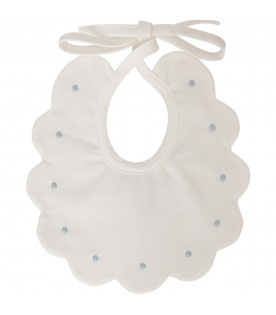 LITTLE BEAR White bib with poka-dots