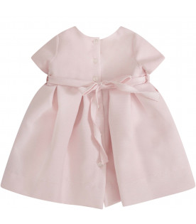 LITTLE BEAR Pink dress with bow