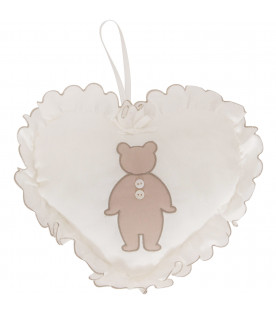 LITTLE BEAR Cuscino bianco con iconico orso