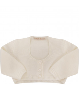 LITTLE BEAR White cardigan