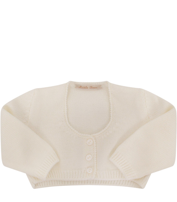LITTLE BEAR Cardigan bianco