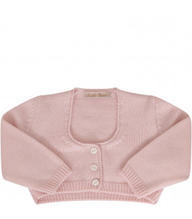 LITTLE BEAR Pink cardigan