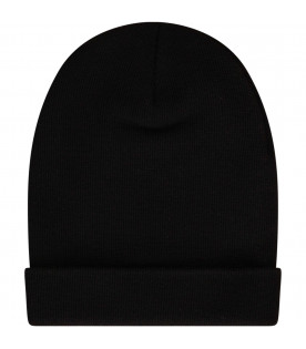 GUCCI KIDS Black hat with white logo