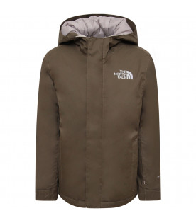 THE NORTH FACE KIDS Military green boy jacket with logo