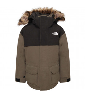 THE NORTH FACE KIDS Military green and black boy with white logo