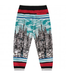 "DOLCE & GABBANA KIDS Colorful boy sweatpant with ""Tour d'Italie"""