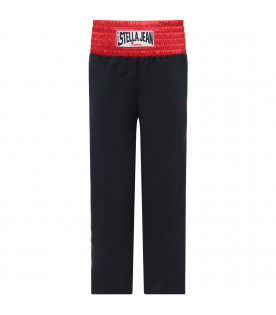 STELLA JEAN KIDS Blue girl pant with blue logo