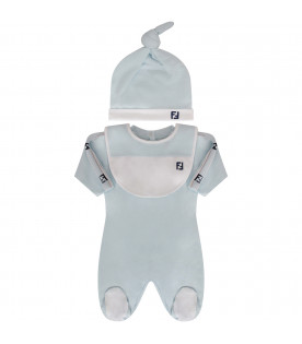 FENDI KIDS Set celeste con logo