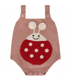 STELLA MCCARTNEY KIDS Pink body with red ladybug with white polka-dots