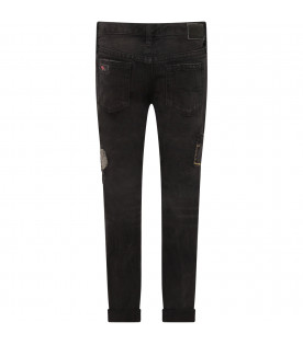 Black girl jeans with patch