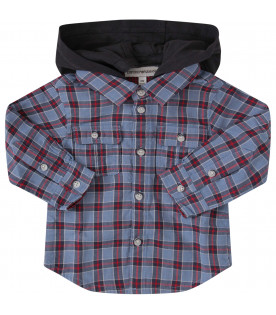 ARMANI JUNIOR   Shirt with multicolor tartan pattern