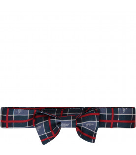 ARMANI JUNIOR Multicolor bow-tie with grey iconic logo