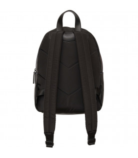 ARMANI JUNIOR   Zaino nero con iconico aquilotto