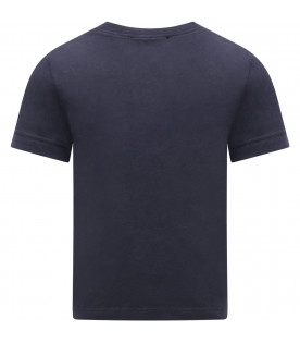 LITTLE MARC JACOBS Blue boy T-shirt with white logo