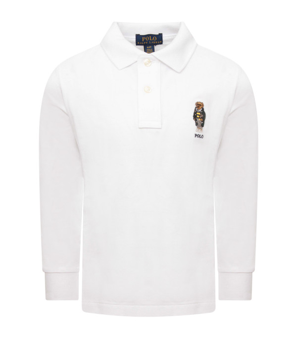 RALPH LAUREN KIDS White boy polo t-shirt with colorful iconic bear