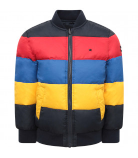 TOMMY  HILFIGER JUNIOR Colorful boy reversible bomber jacket with iconic flag
