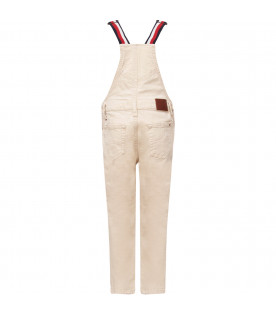 TOMMY  HILFIGER JUNIOR Beige denim boy overall