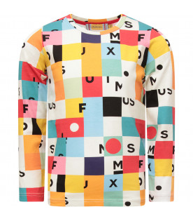 MUMOFSIX Multicolor T-shirt with colorful geometrical figures and black logo
