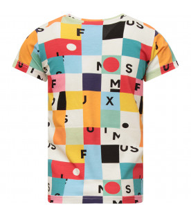MUMOFSIX Multicolor T-shirt with colorful print and black logo
