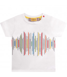 MUMOFSIX White T-shirt with colorful print