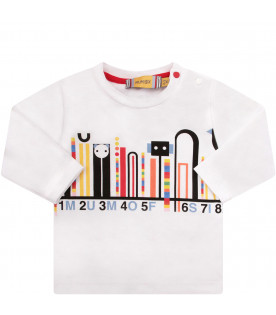 MUMOFSIX White T-shirt with yellow and black print