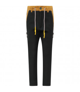 MUMOFSIX Blue boy pant with yellow details