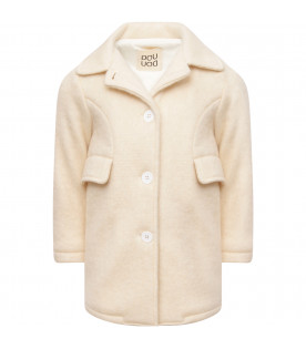 DOUUOD KIDS White off girl coat