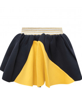 Blue and yellow girl skirt