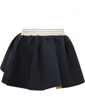 RASPBERRY PLUM Blue and yellow girl skirt