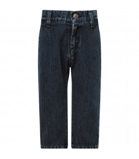 GOGANGA Blue boy jeans with red logo