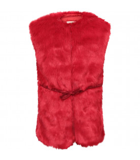 GOGANGA Red faux fur
